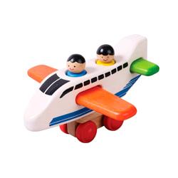 aeroplano de madera voila para niños