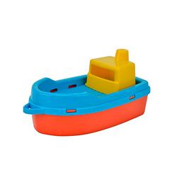 barco multicolor de juguete para bañera