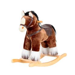 caballo balancin de madera para niños