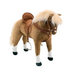 caballo con silla, frenos y sonidos