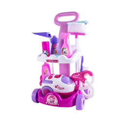 carro de limpieza con aspiradora para niños
