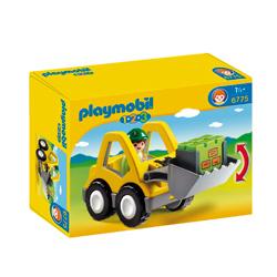 excavadora de playmobil para niños
