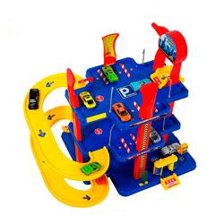 garaje de tres plazas de juguete