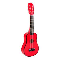 Guitarra de madera roja para niños