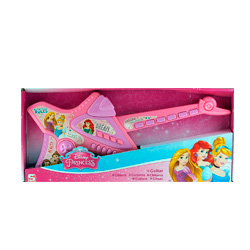 guitarra disney princess color rosa