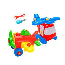 helicoptero y avion de juguete desmontable
