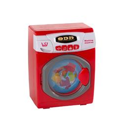 lavadora color rojo con luz y sonido