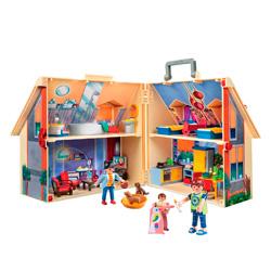 maletín casa playmóbil de muñecas