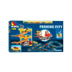 molto parking city con pistas y coches