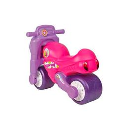 moto de niños de famosa color rosa