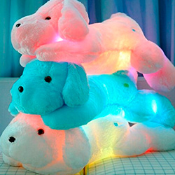 perros de juguete con luces led