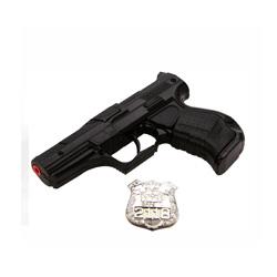 pistola infantil de metal color negro
