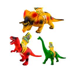 set de 3 dinosaurios de goma para niños