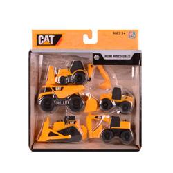 set de 5 mini excavadoras de juguete