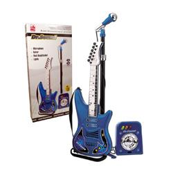 set de guitarra con microfono y bafle