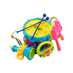 set tambor e instrumentos musicales de juguete