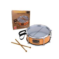 tambor con baqueta y bandolera de juguete