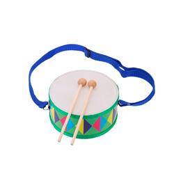 tambor de juguete con banda de color azul