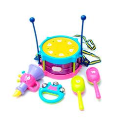 tambor de la cintura con sonajero de juguete