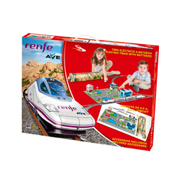 tren renfe con circuito para niños