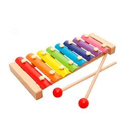 xilofono con varillas de madera de juguete