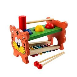 xilofono de madera con martillo de juguete
